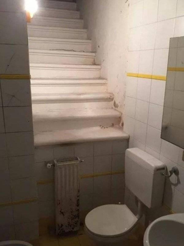 Steps to Toilet