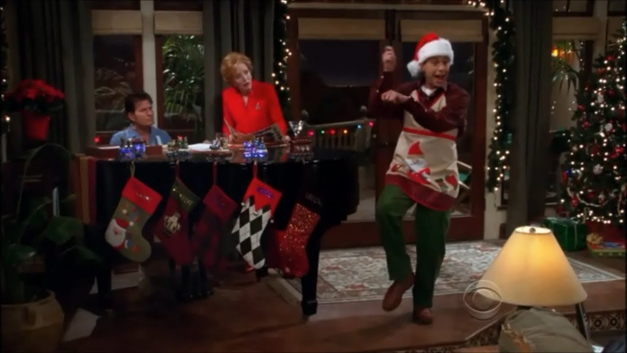 Two and a Half Men - Alan Singing Jingle Bell Rock [HD]
